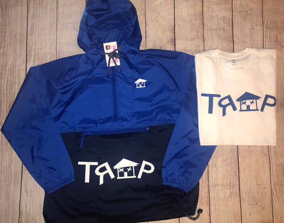 TRAP Windbreaker (Royal Blue/Navy/white)