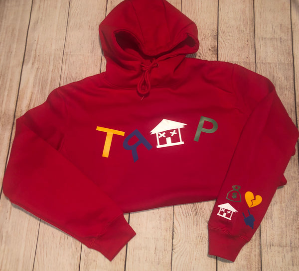 RED CRAYON TRAP HOODIE