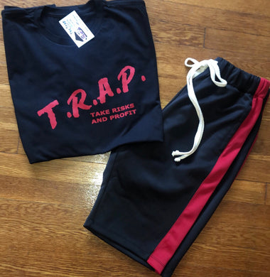 T.R.A.P. Tee (black/ red)