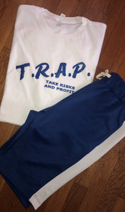 ***T.R.A.P. DARE STYLE WHITE TEE*** (various logo color options)