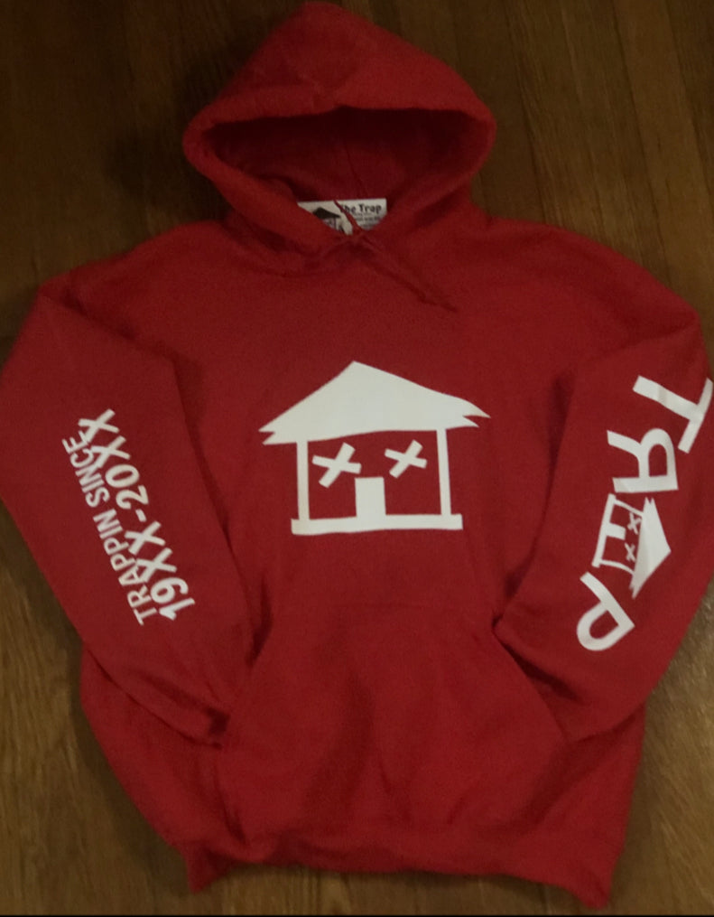 BIG TRAP HOUSE HOODIE (RED)