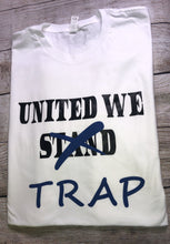 Load image into Gallery viewer, ***UNITED WE TRAP TEE WHITE TEE *** (various logo color options)