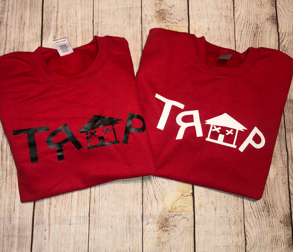 TRAP CREWNECK (RED)