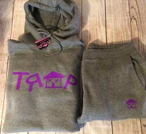 TRAP JOGGING SUIT SET (GRAY/PURPLE)