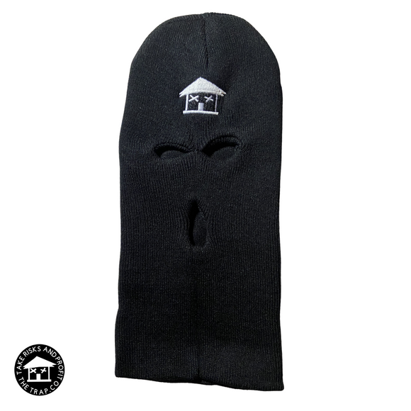 No Face No Case Trap House Skii Mask (Black/White)