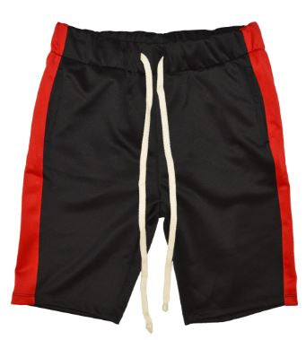 BLACK/RED - UNISEX TRACK SHORTS