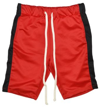RED/BLACK- UNISEX TRACK SHORTS