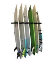 Load image into Gallery viewer, Wall Mounted Surfboard Rack 6 Board Vertical