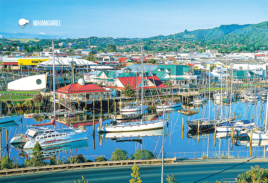 SNO696 - Whangarei Town Basin, Northland - Small Postcard - Postcards NZ Ltd