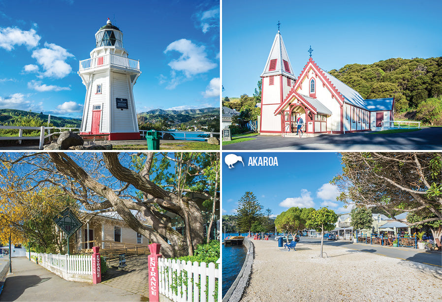 SCA322 - Akaroa - Small Postcard - Postcards NZ Ltd