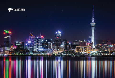 SAU110 - Auckland City Lights - Small Postcard - Postcards NZ Ltd