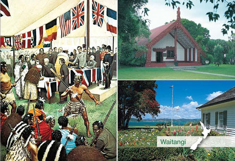 SBI182 - Waitangi Multi - Small Postcard - Postcards NZ Ltd