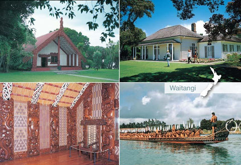 SBI190 - Waitangi Multi - Small Postcard - Postcards NZ Ltd