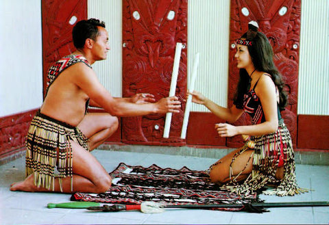 SRO211 - Maori Stick Game - Small Postcard