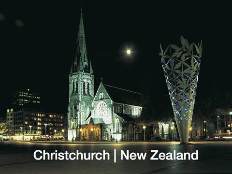 SCA274 - Christchurch At Dusk - Small Postcard