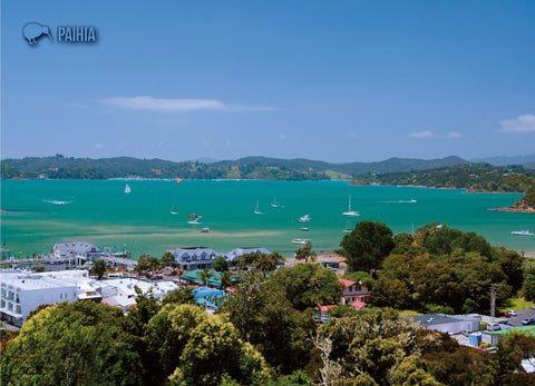 LAU001 - Auckland And Rangitoto Island - Large Postcard