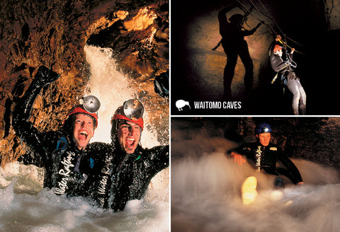 SWC974 - Black Water Rafting - Small Postcard - Postcards NZ Ltd