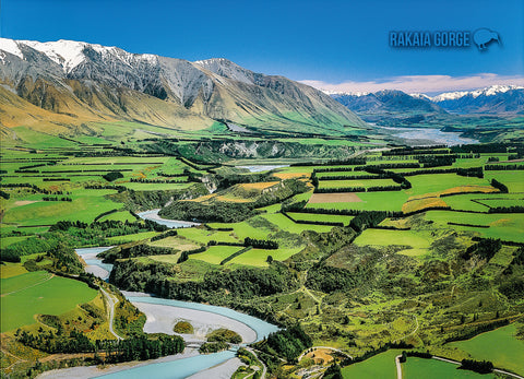 LCA043 - Rakaia, Aerial - Large Postcard - Postcards NZ Ltd