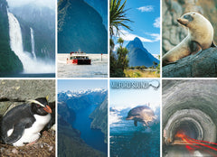 LFI067 - Milford Sound 8 View Multi - Large Postcard - Postcards NZ Ltd
