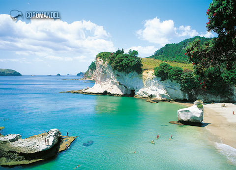 LHW088 - Cathedral Cove - Large Postcard - Postcards NZ Ltd
