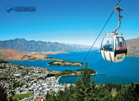 LQT131 - Gondolas, Queenstown - Large Postcard - Postcards NZ Ltd
