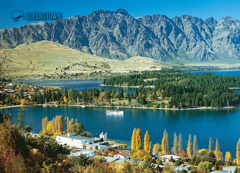 LQT129 - Lake Wakatipu & Remarkables - Large Postcard - Postcards NZ Ltd