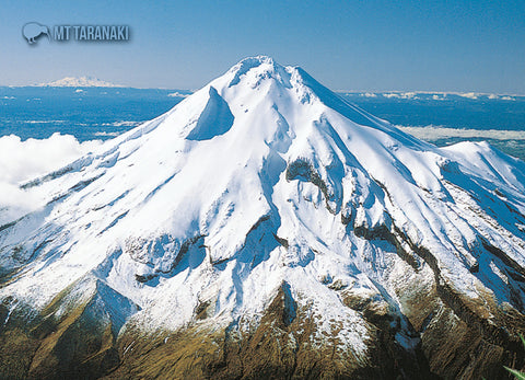 LTA155 - Mt Taranaki, Aerial - Large Postcard - Postcards NZ Ltd