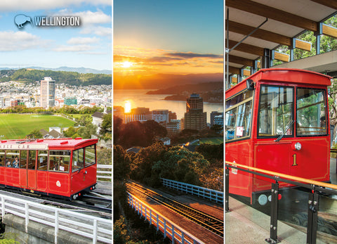 LWG189 - Wellington Cable Car Multi - Large Postcard - Postcards NZ Ltd