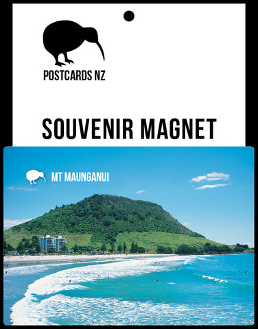 MBP023 - Mt Maunganui - Main Beach With Surfers - Postcards NZ Ltd