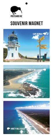 MNU5930 - Ninety Mile Beach Magnet Set - Postcards NZ Ltd