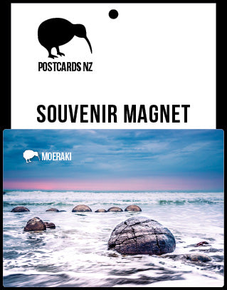 MOT184 - Moeraki Boulders - Magnet - Postcards NZ Ltd
