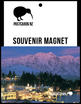 MQT198 - Queenstown At Dusk - Magnet - Postcards NZ Ltd