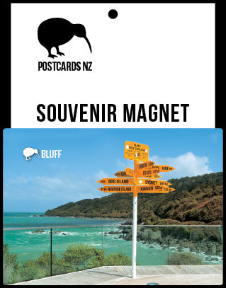 MSO231 - Signpost at Bluff - Magnet - Postcards NZ Ltd