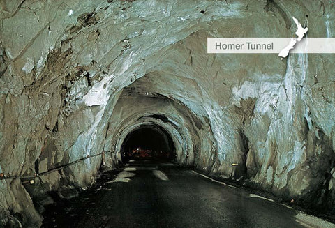 SFI30 - Inside Homer Tunnel - Small Postcard