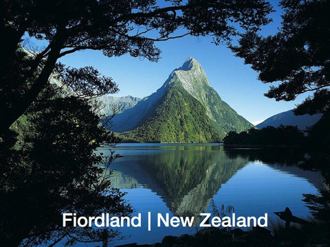 LFI059 - Mitre Peak Reflection, Milford Sound - Large Postc - Postcards NZ Ltd