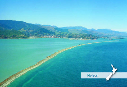SNE746 - Nelson Haven Aerial - Small Postcard