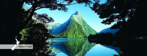 MPFI123 - Mitre Peak - Panoramic Magnet - Postcards NZ Ltd