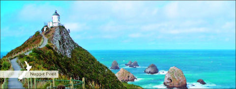 MOT509 - Nugget Point - Panoramic Magnet - Postcards NZ Ltd