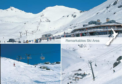 SQT849 - Remarkables Ski Area - Small Postcard - Postcards NZ Ltd