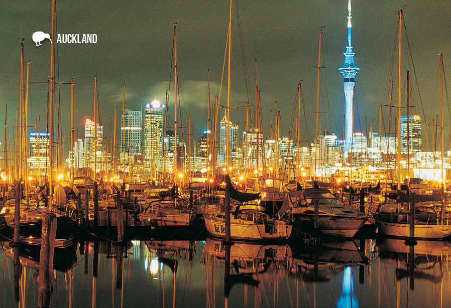 SAU102 - Westhaven Marina, Auckland - Small Postcard - Postcards NZ Ltd