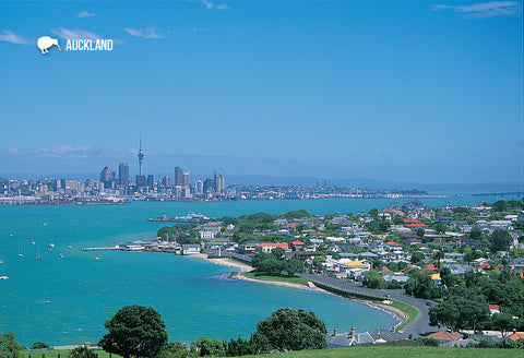 SAU113 - Waitemata Harbour From North Head, Auckland - Smal - Postcards NZ Ltd