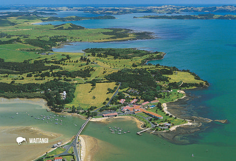 SBI152 - Aerial View Of Waitangi - Small Postcard - Postcards NZ Ltd