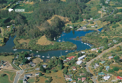 SBI157 - Aerial Kerikeri Inlet - Small Postcard - Postcards NZ Ltd