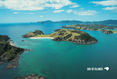 SBI159 - Aerial View Of The Bay Of Islands - Small Postcard - Postcards NZ Ltd