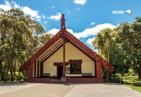 SBI164 - Maori House, Waitangi - Small Postcard - Postcards NZ Ltd