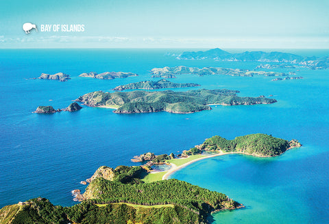 SBI159 - Aerial View Of The Bay Of Islands - Small Postcard