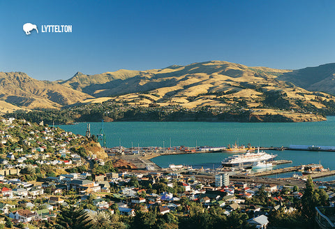 SCA283 - Lyttelton Harbour - Small Postcard - Postcards NZ Ltd