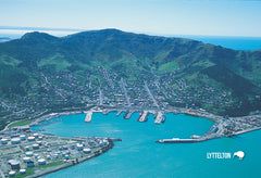 SCA299 - Lyttelton Aerial - Small Postcard - Postcards NZ Ltd
