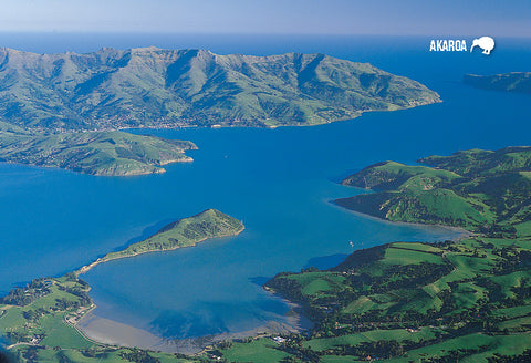 SCA307 - Akaroa Harbour - Small Postcard