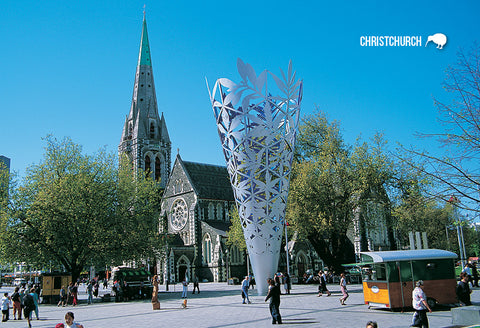 SCA316 - Christchurch Square And Chalice - Small Postcard